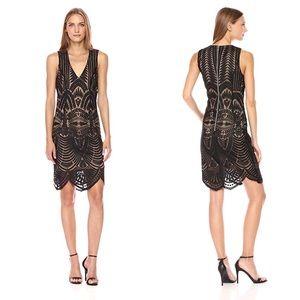 NWT Bardot   Black Embroidered Dress